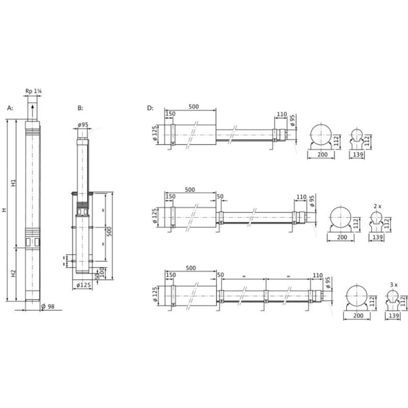 WILO- SUB TWU 4-0409-C PLUG & PUMP/ DS