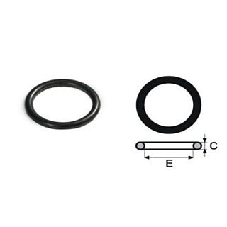 FIX TREND Steel press O-ring, garnitură EPDM negru 18 mm