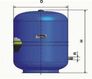 GITRAL HYB 80l vas expansiune a.c.m. şi apă potabilă 1