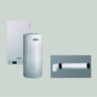 Viessmann pachet Vitodens 100 W - 35 kw, pentru încălzire şi preparare apă caldă menajeră cu boiler de 300 litri pentru sisteme solare