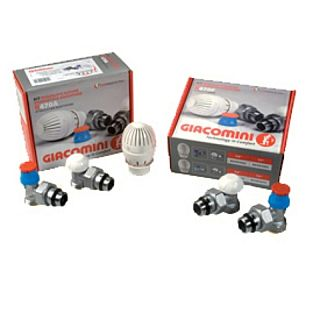 "KIT GIACOMINI R470A: ventil + detentor + cap termostatic + 2 buc  racorduri 1/2"" x 16 x (16 x 2) mm"