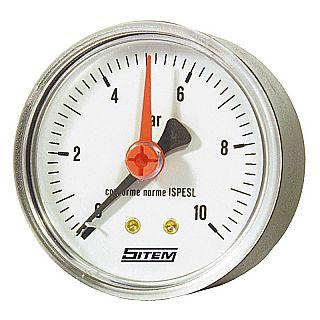 SITEM manometru cu racord axial posterior, Ø63 mm, 10 bar