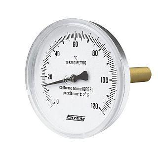 SITEM termometru de precizie cu racord posterior 63 mm/ 100 mm, 120ºC